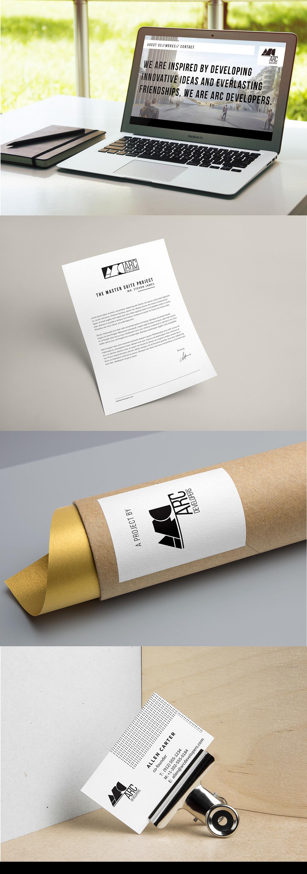 logo identity architecture bureau corporative design branding