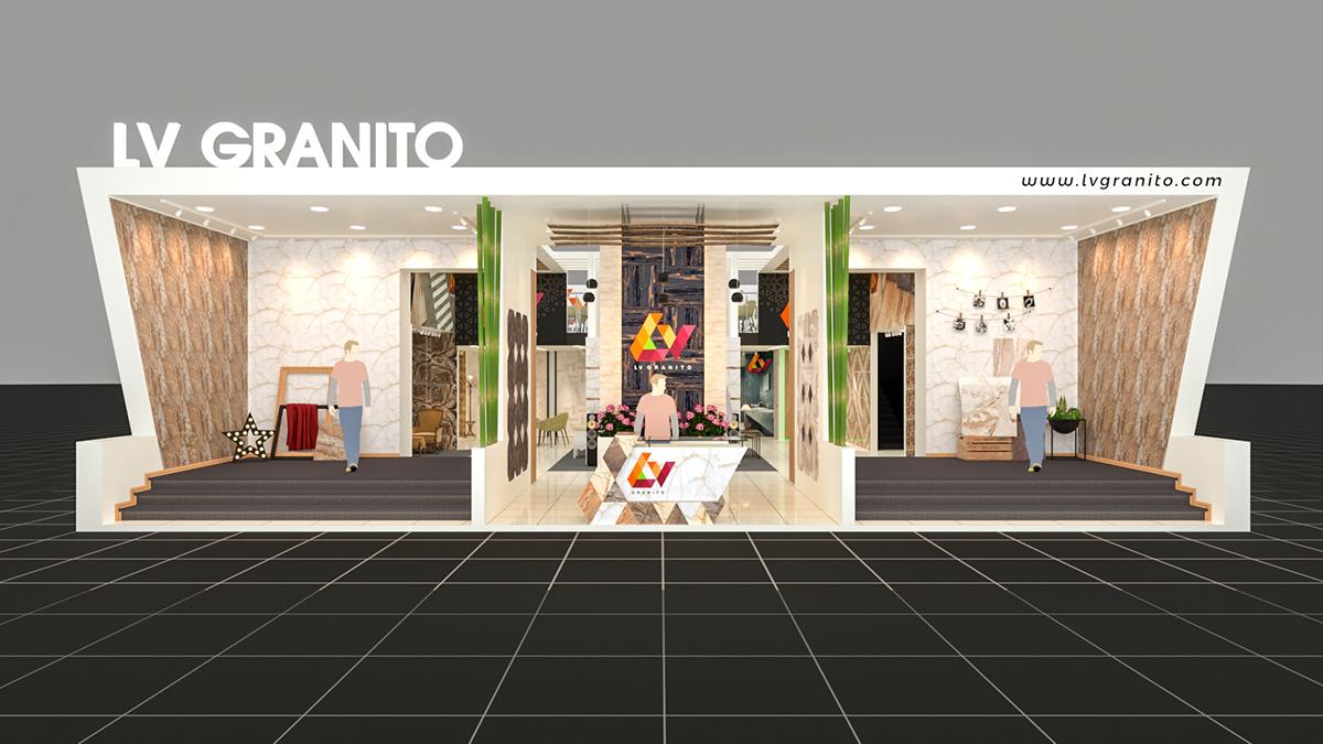 Ceramic Exhibition Stall : Lv granito stall at vibrant ceramics gandhinagar on