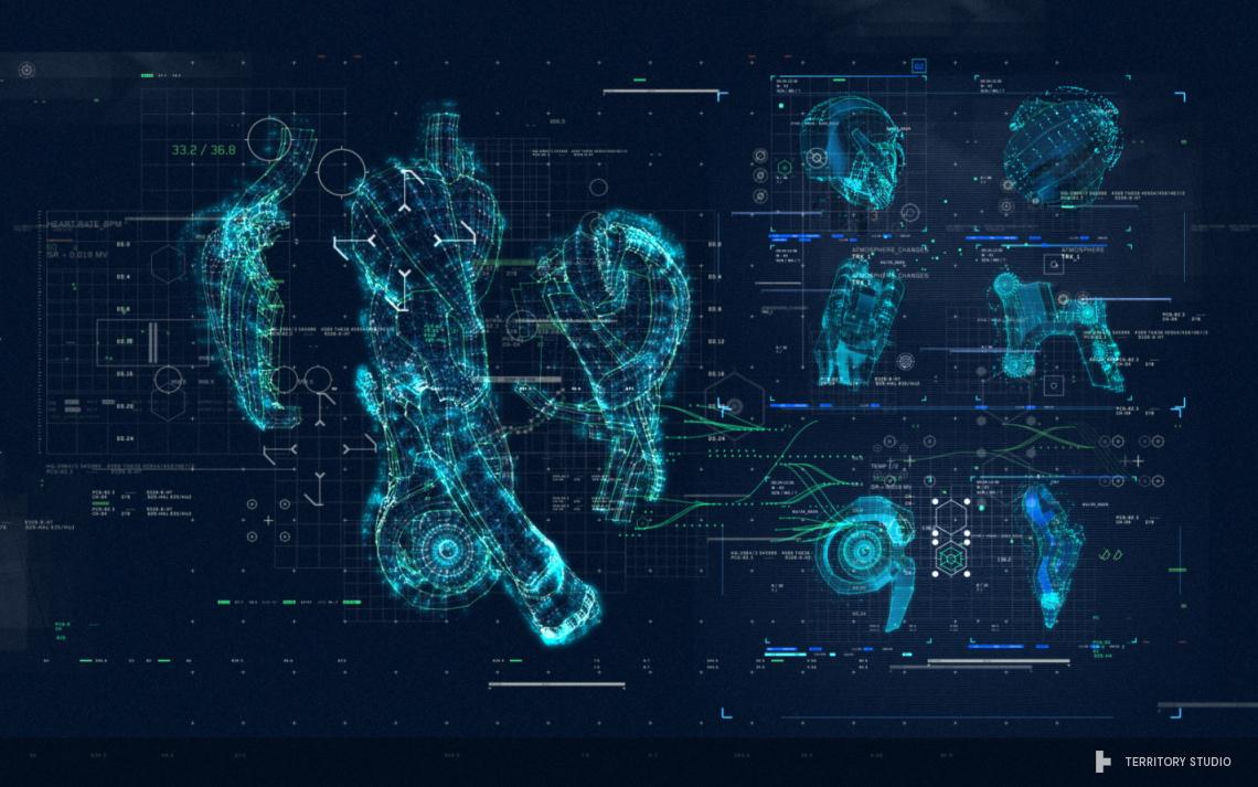Avengers Age Of Ultron Ui Screen Graphics On Behance Iron Man Suit Schematics