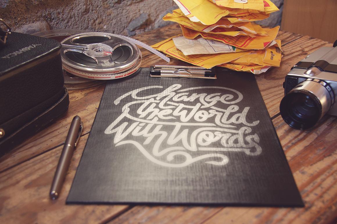 free freebie Mockup mock-up vintage psd old poster flyer video scene desktop layered editable professional