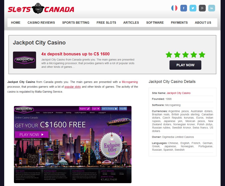 Slots Online Canada