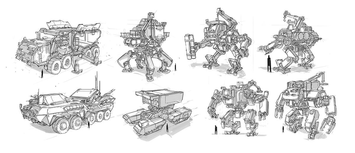 conceptart  digitalart mech mechdesign robots  mecha