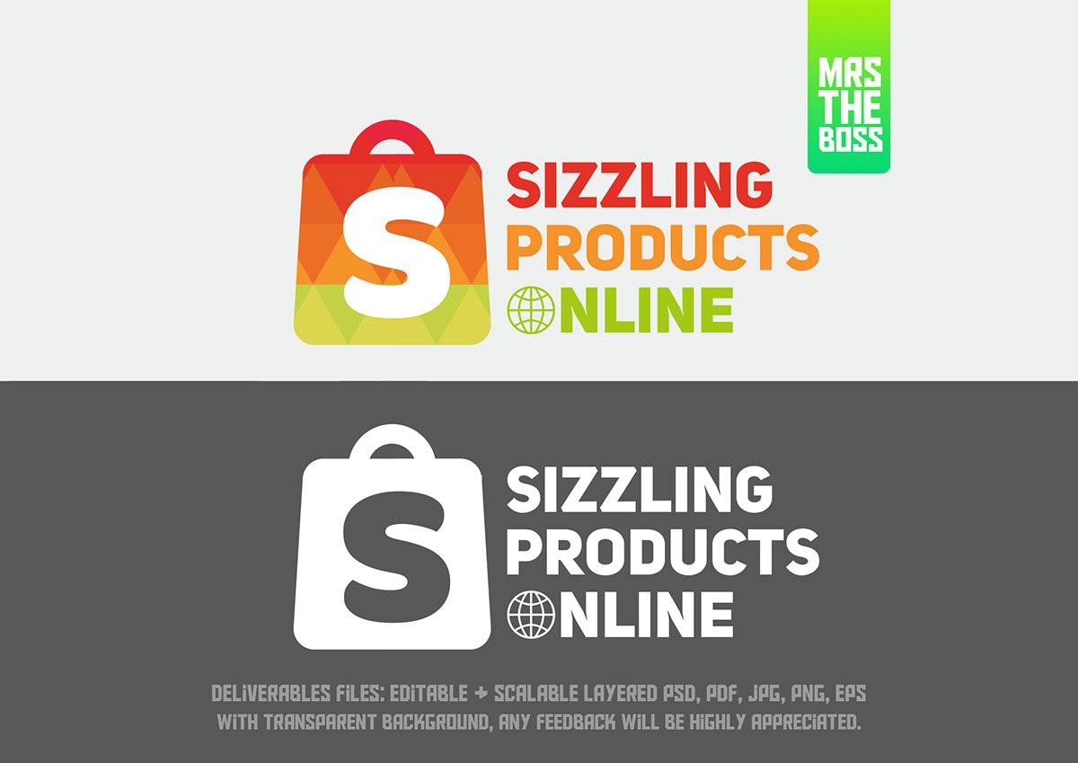 Online Shopping Logo Design On Student Show