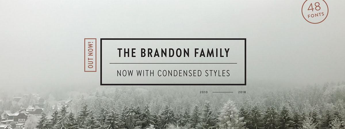 Brandon Grotesque Condensed on Pantone Canvas Gallery