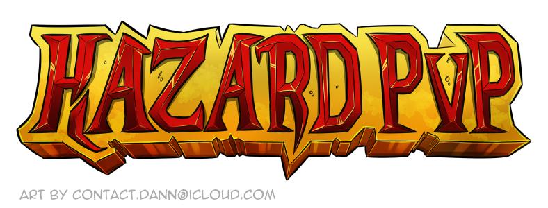 hazard pvp server logo on behance