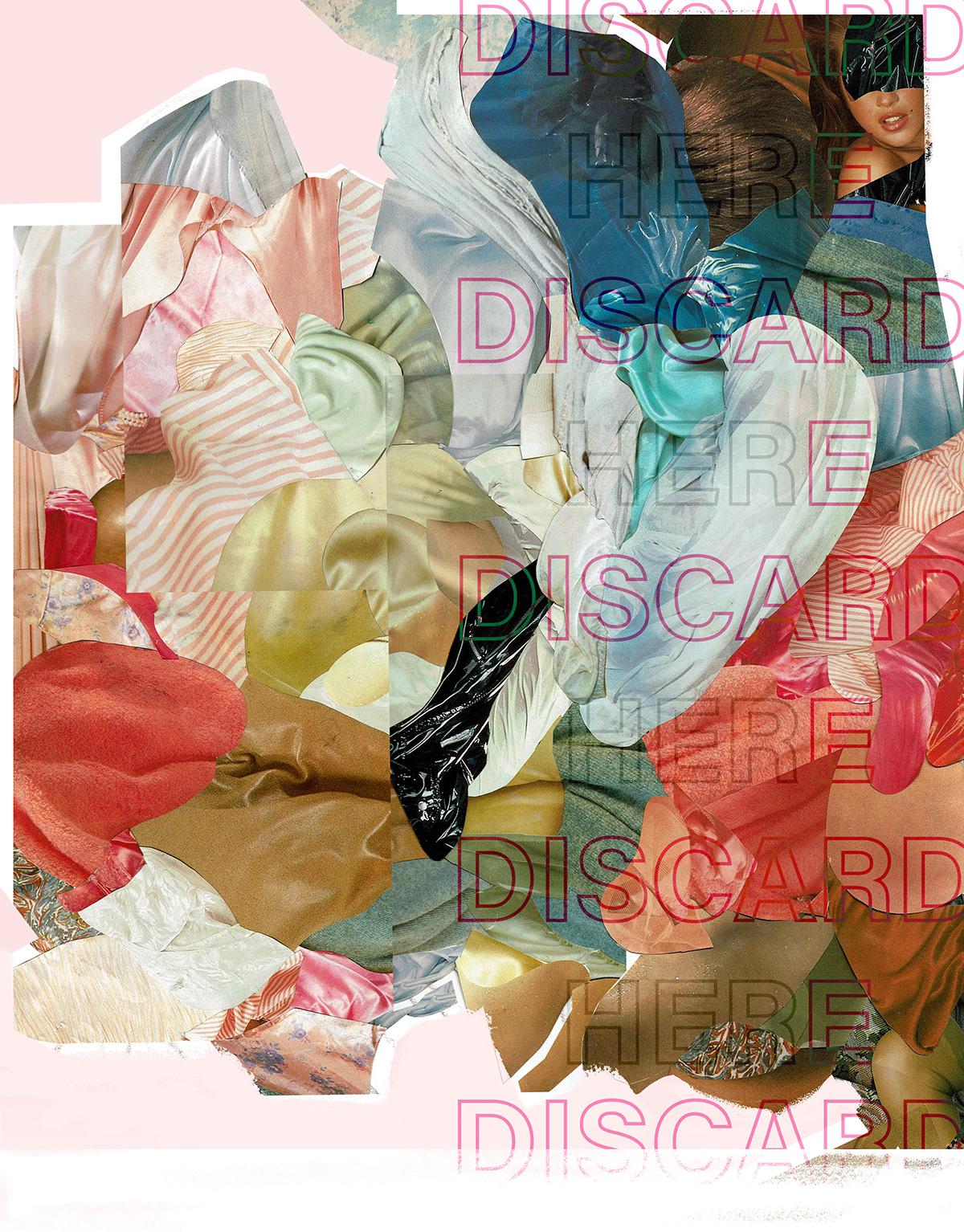 brand collage discard here editorial fabric Fashion  feminist maagazine porn