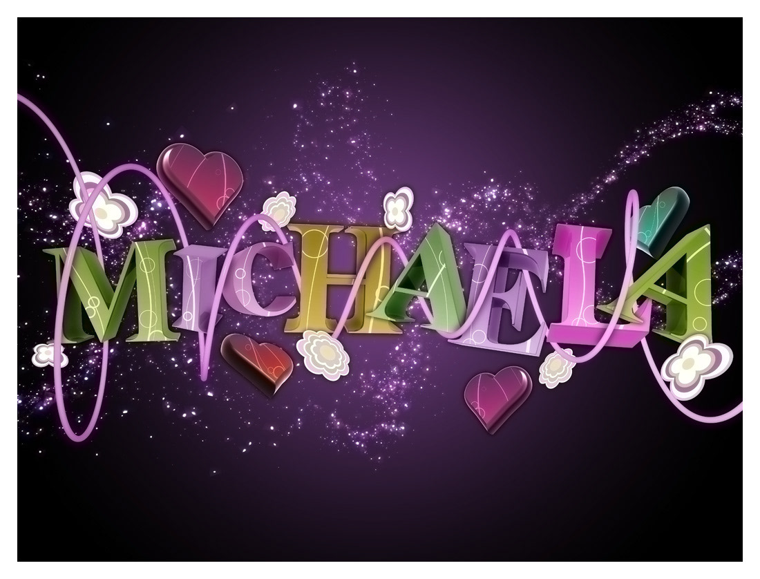 Extrusion Digital Art  name creative colorful art digital typography