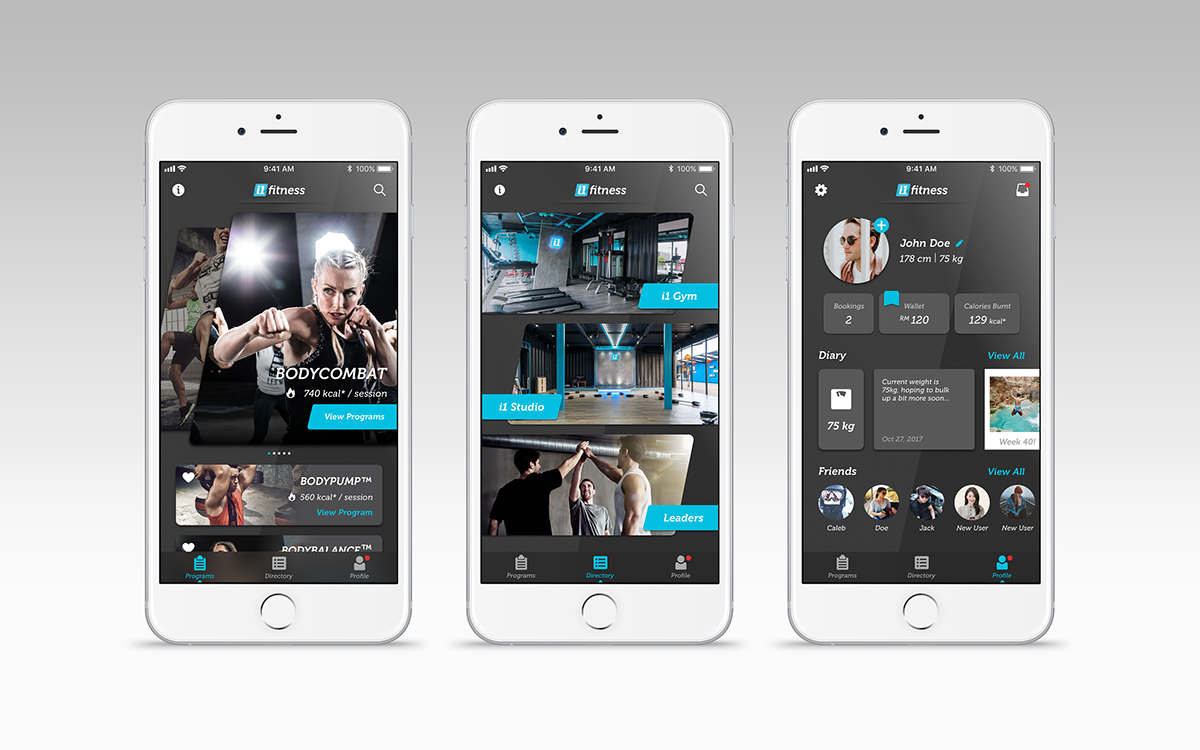 fitness i1 Fitness i1 Website app UI/UX container