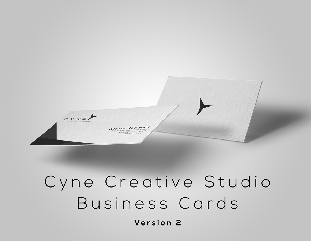Cyne Creative Studio: Business Cards v2 on Behance