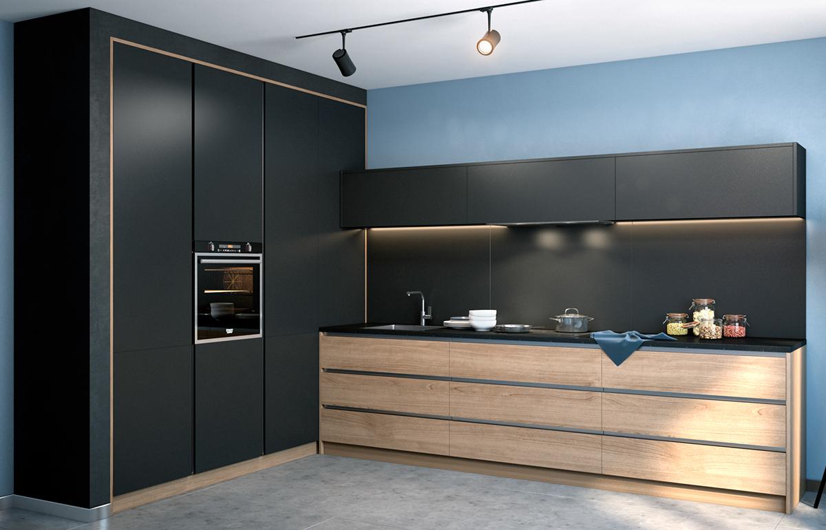 kichen design intrior visualisation furniture visual effects
