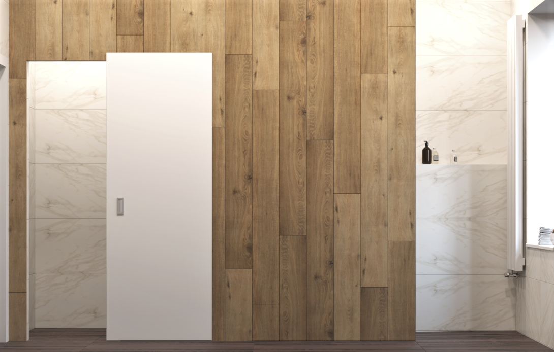 Image may contain: indoor, door and building