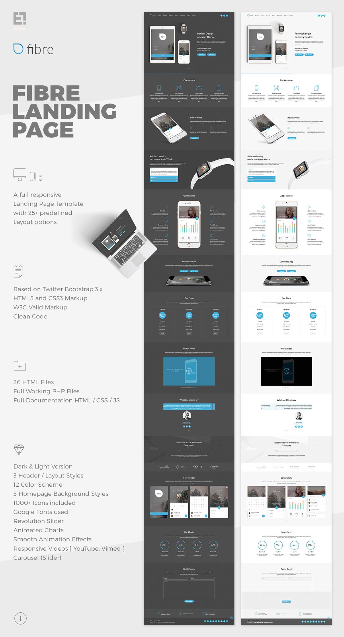 Fibre App Landing Page on Behance