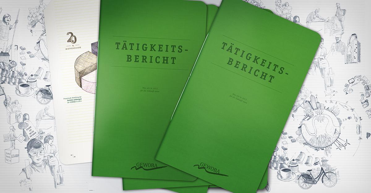 geschäftsbericht Grafikdesign typografie Corporate Design brand green