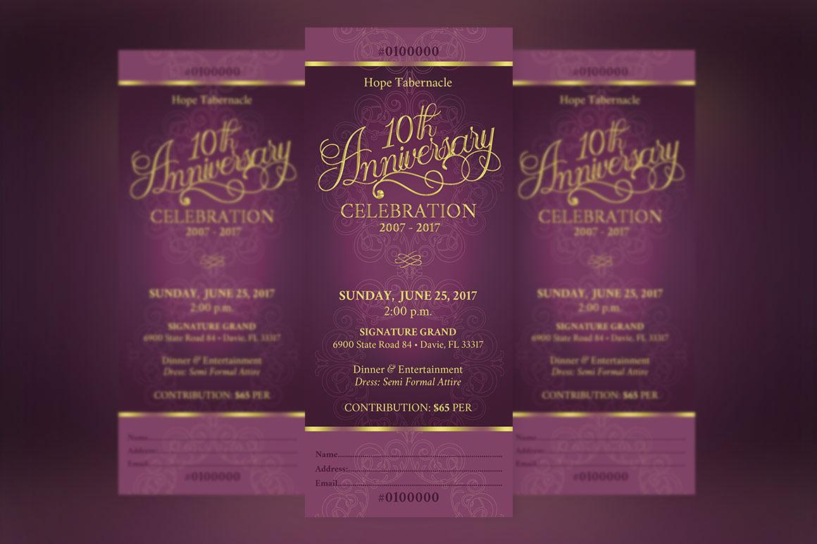 church anniversary banquet ticket on behance