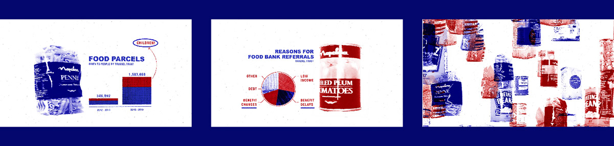 made in britain UK Brexit Food Banks social vox pop motion collage animation  school cuts