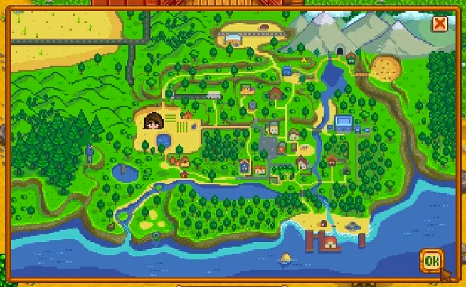Stardew Valley Official Map on Behance on