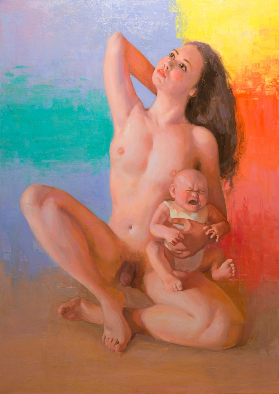 oil on canvas pittura olio su tela