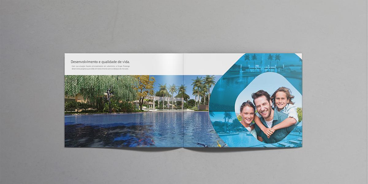 folder construção civil empreendimentos institucional brochure happy family architecture arquitetura e urbanismo resort construction