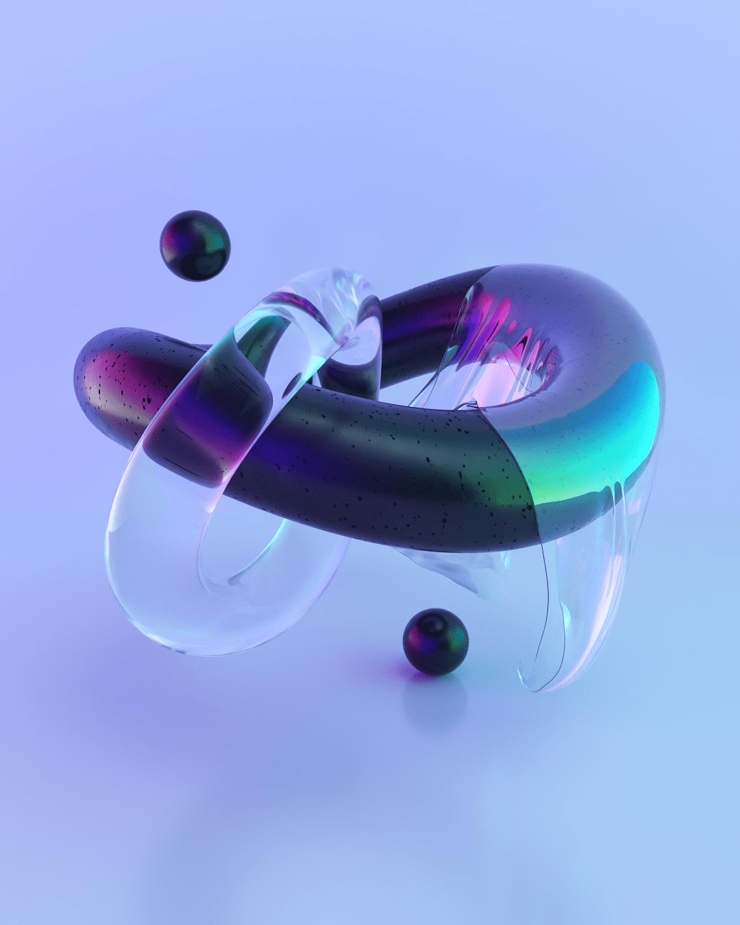3D 3d render abstract light lights materials neon Render Retro shapes