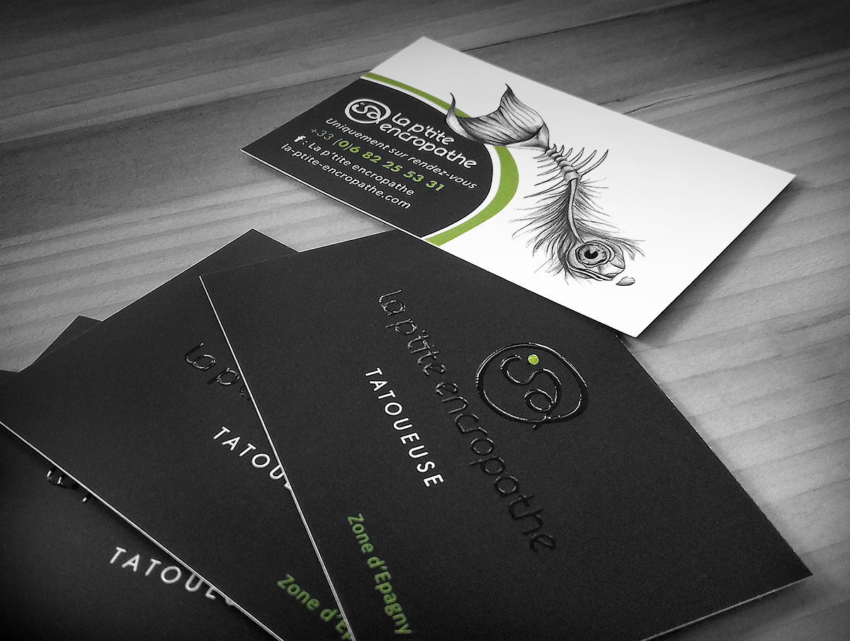 La Ptite Encropathe Carte De Visite Cration Graphique Logotype Illustration Et Mise En Page