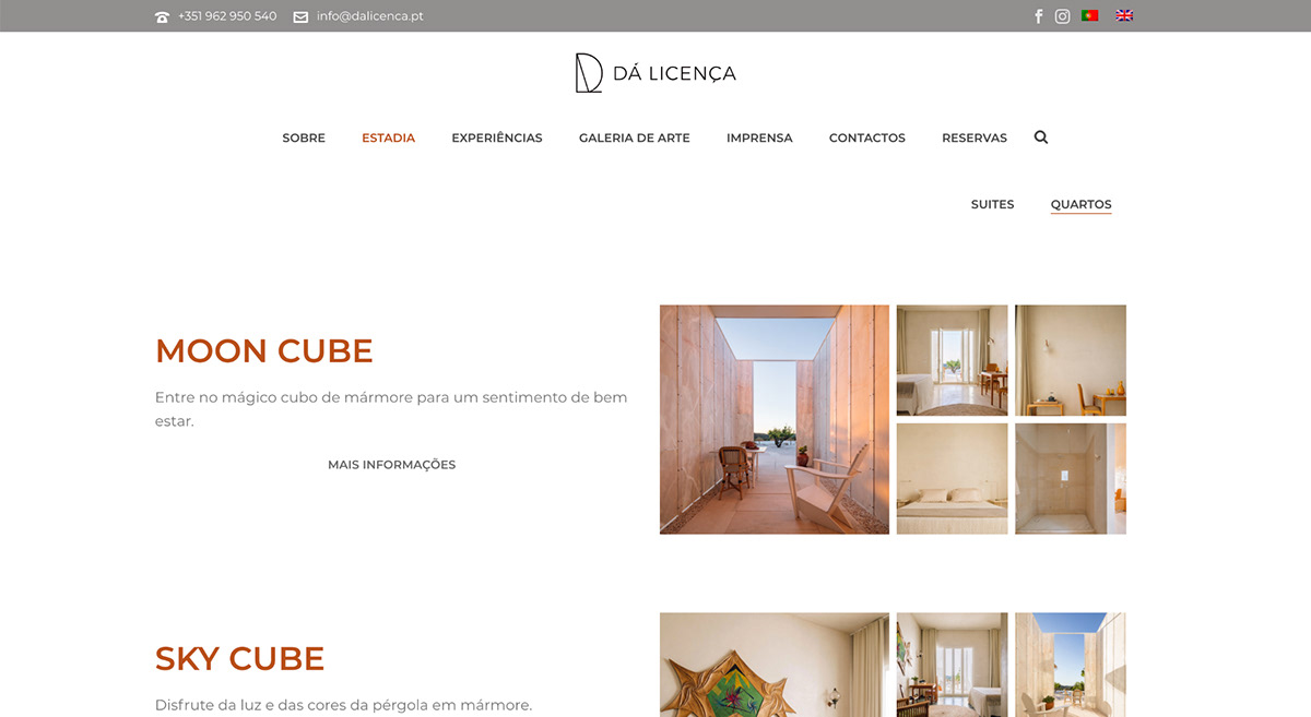 Da Licença alentejo Website hotel Boutique Hotel