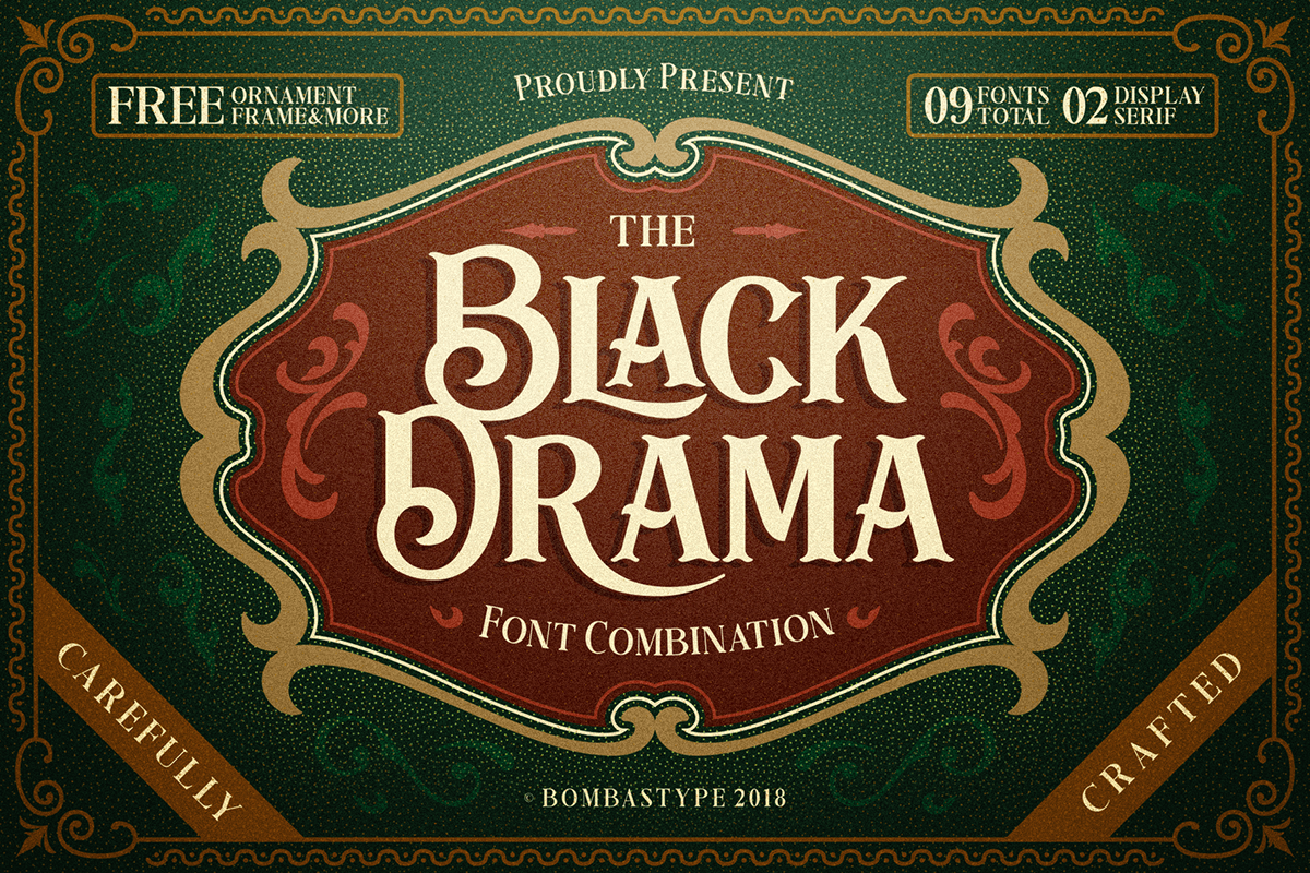 BLACK DRAMA - FREE ANTIQUE RETRO FONT on Behance