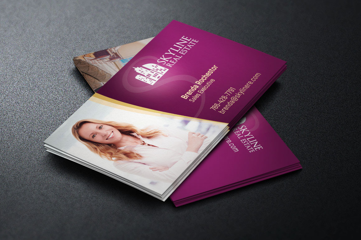 Real estate business card template on behance fbccfo Image collections