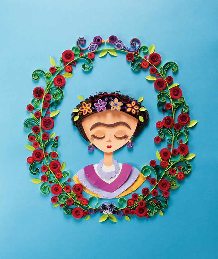 frida kahlo papercraft project on behance