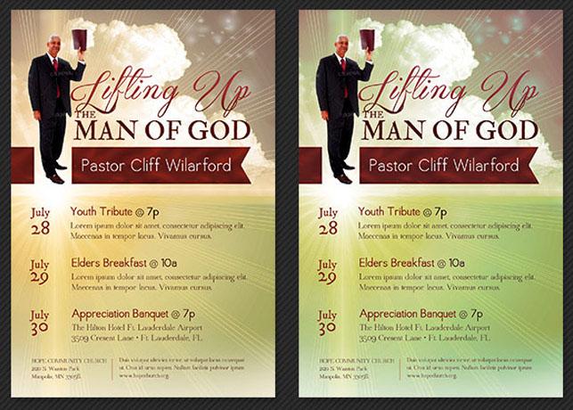 Pastor appreciation church flyer template on behance stopboris Choice Image