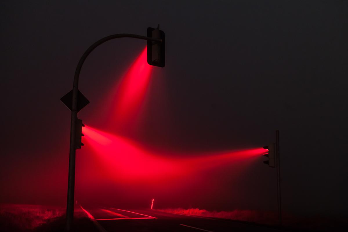 Traffic lights on Behance for Real Traffic Light Night  45ifm