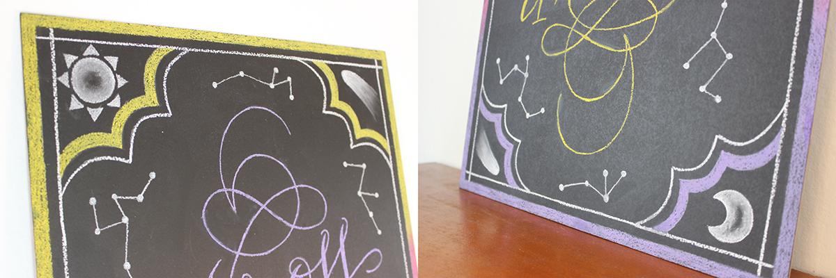Beatles acrosstheuniverse lettering letters chalk Chalkboard