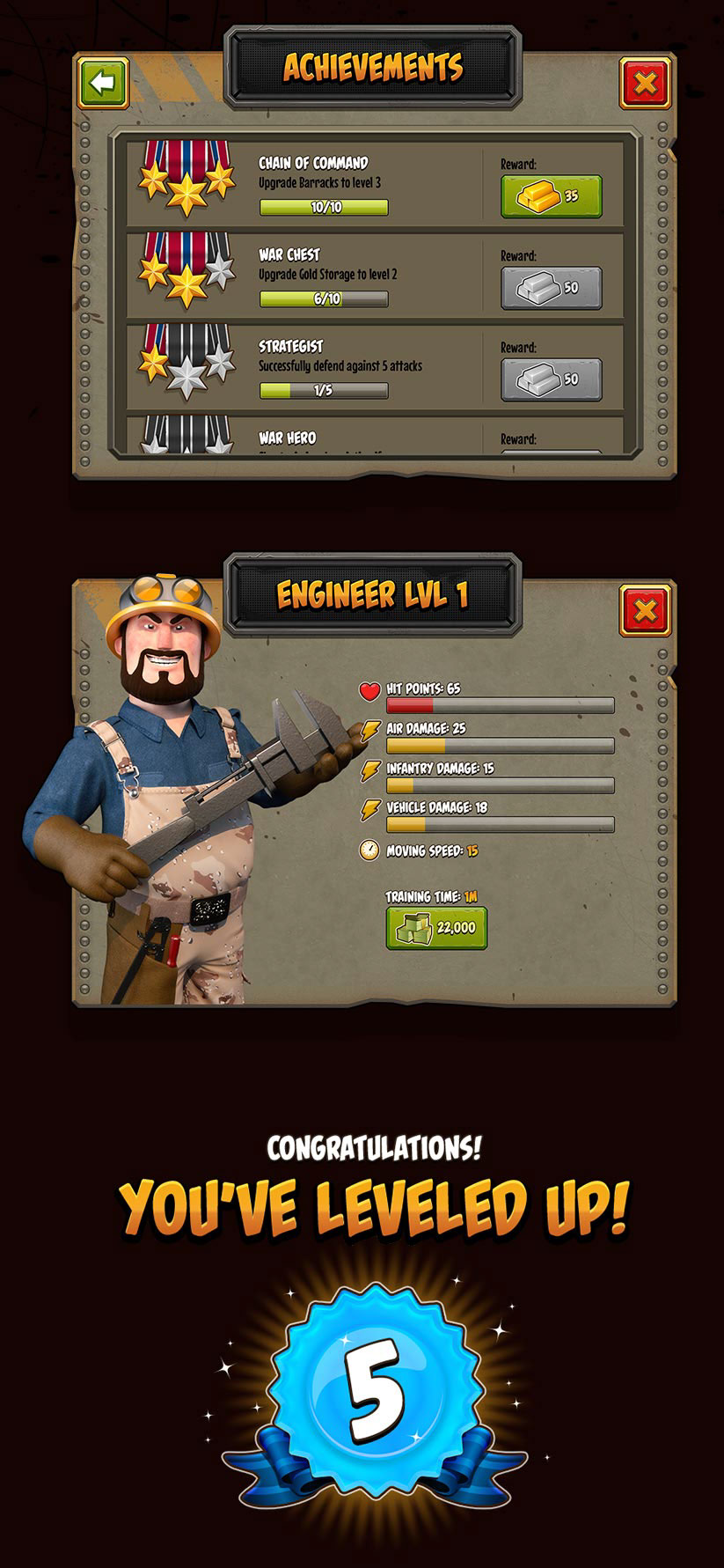 game ui design mobile