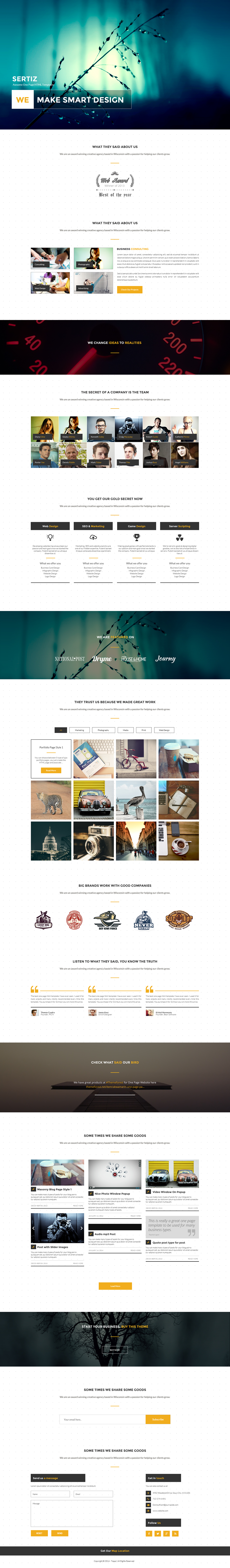 bootstra  onepage free psd Free Template Free Dwonload Single Page