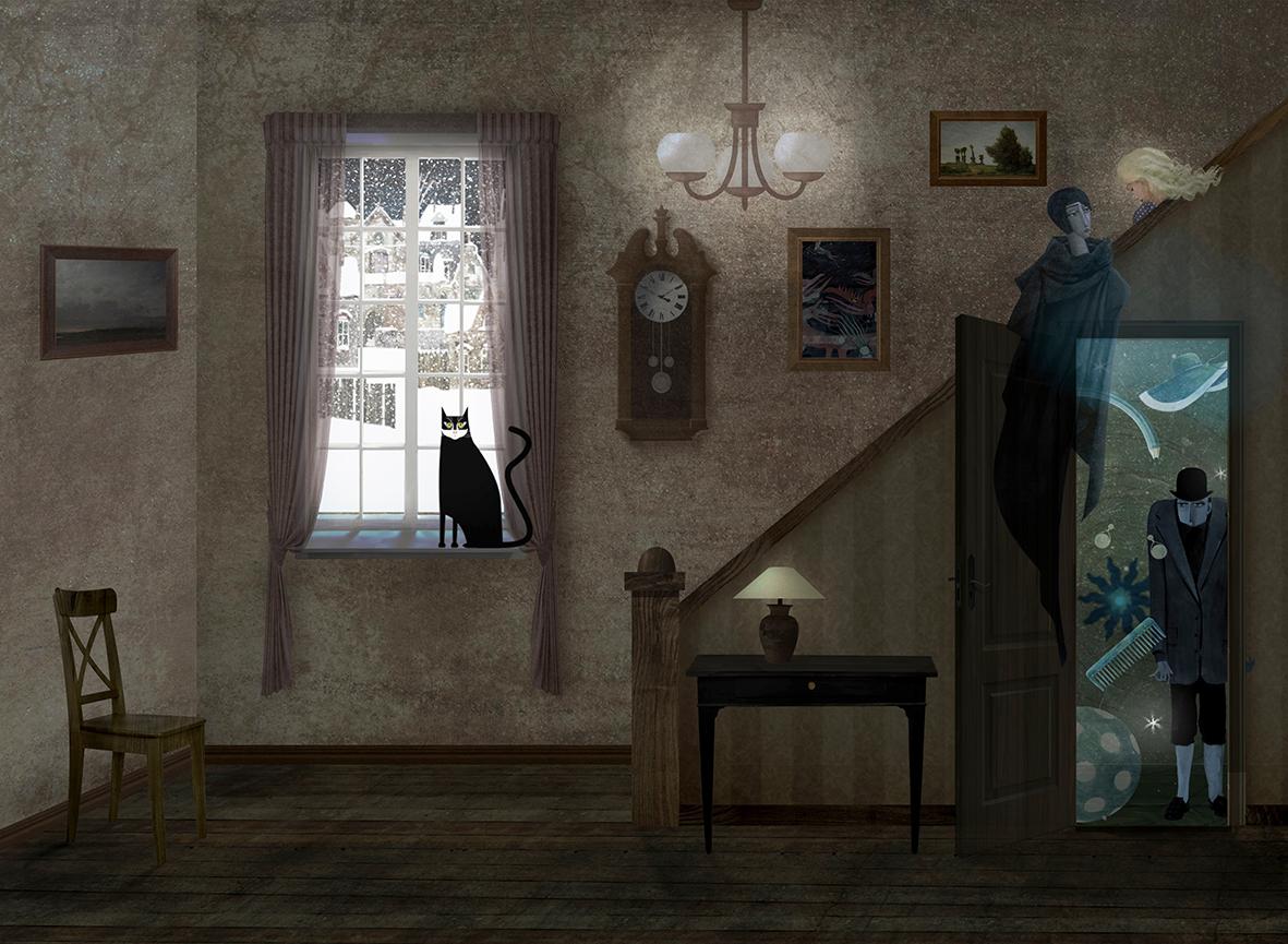 children's book ILLUSTRATION  fiction imagination Creativity fantasy Magic   Ghosts book