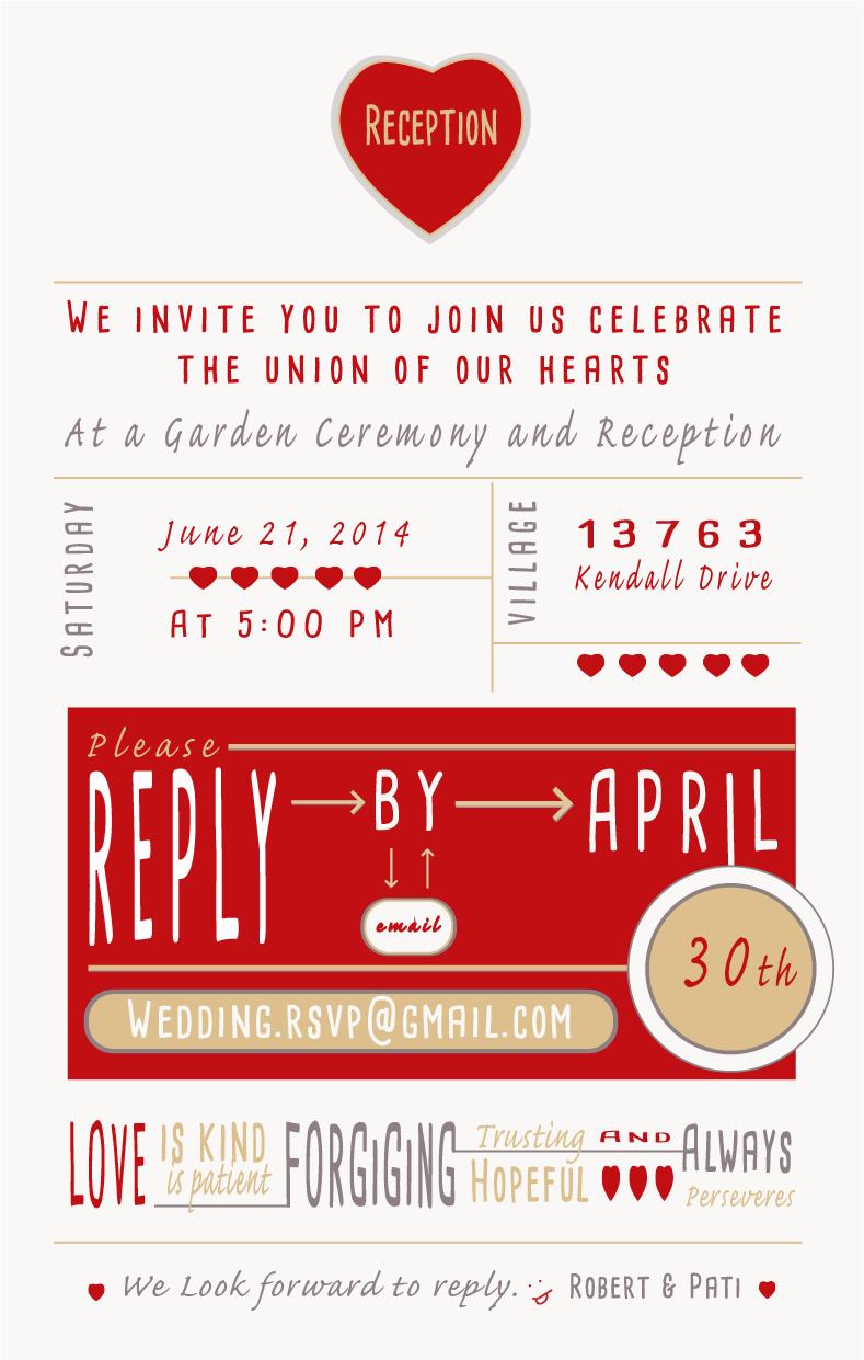 Wedding Invitation - Modern on Behance