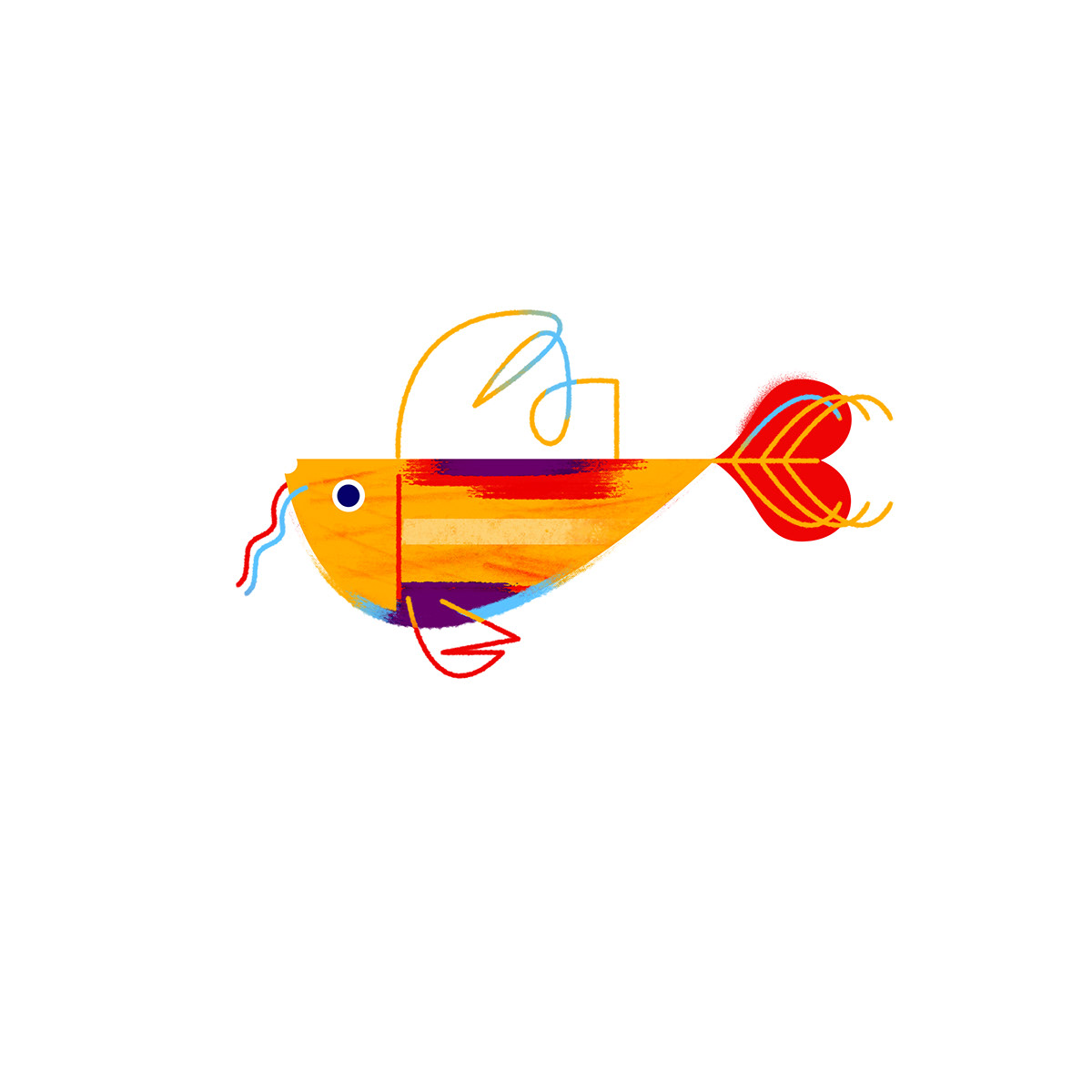 fish color vector texture animal Drawing  painting