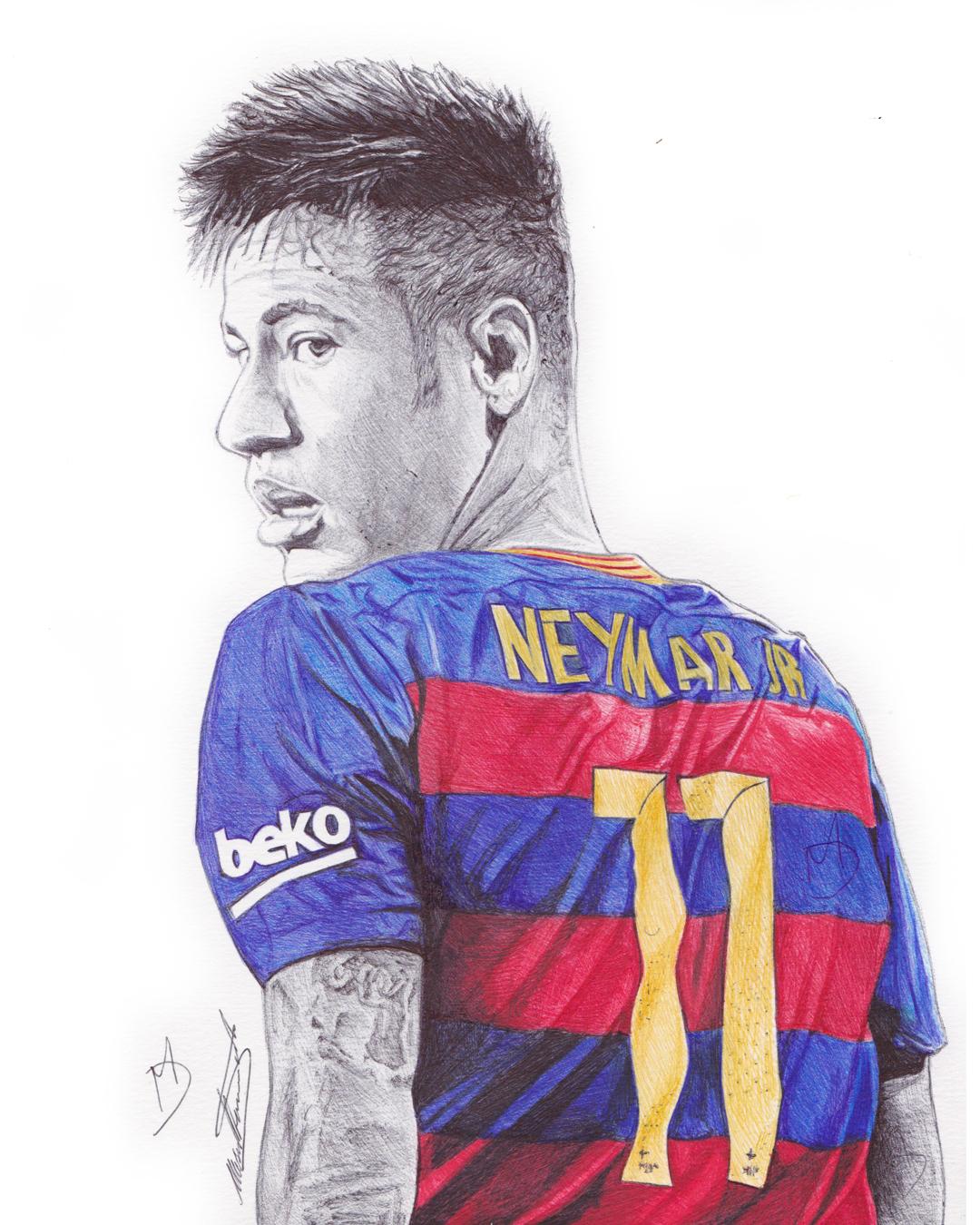 Demoose art 165k subscribers subscribe · neymar jr pen drawing