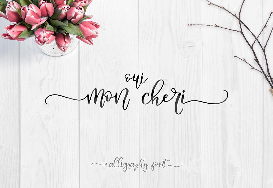 8eef6ba5 Oui, Mon Cheri - Calligraphic font on Behance