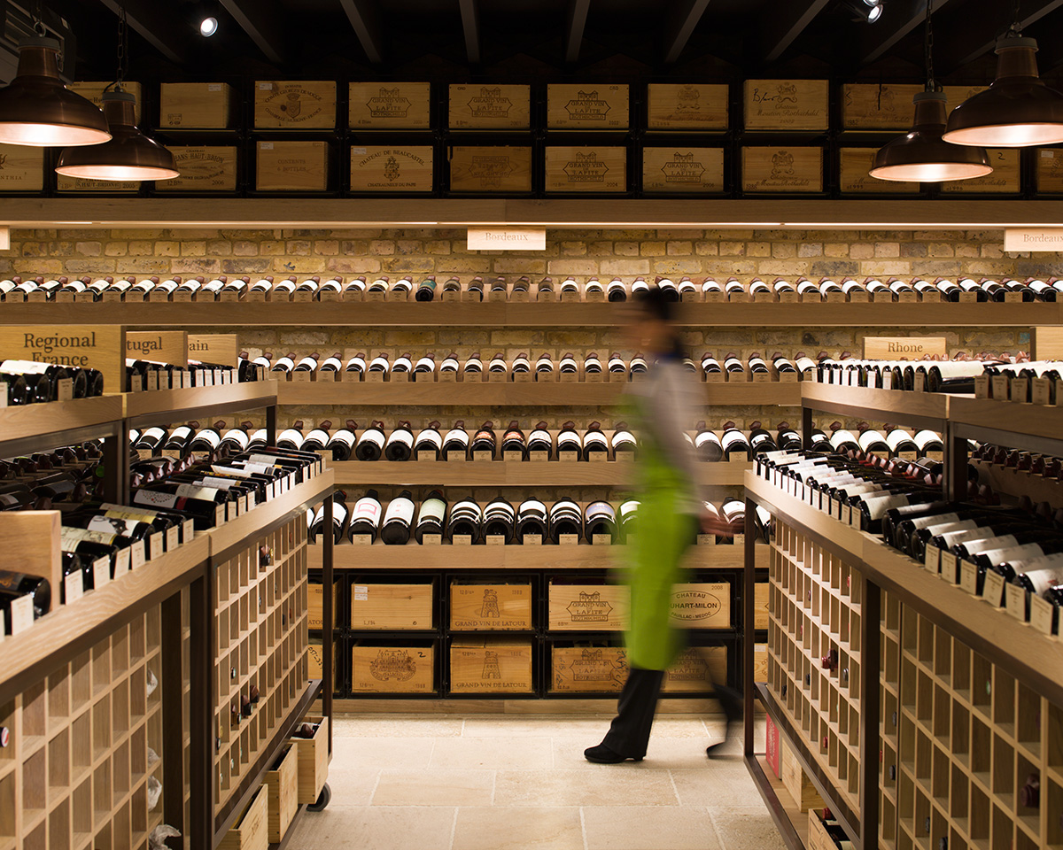 Hedonism wine shop Retail Interior light lighting led architectural photography London mayfair luxury brand