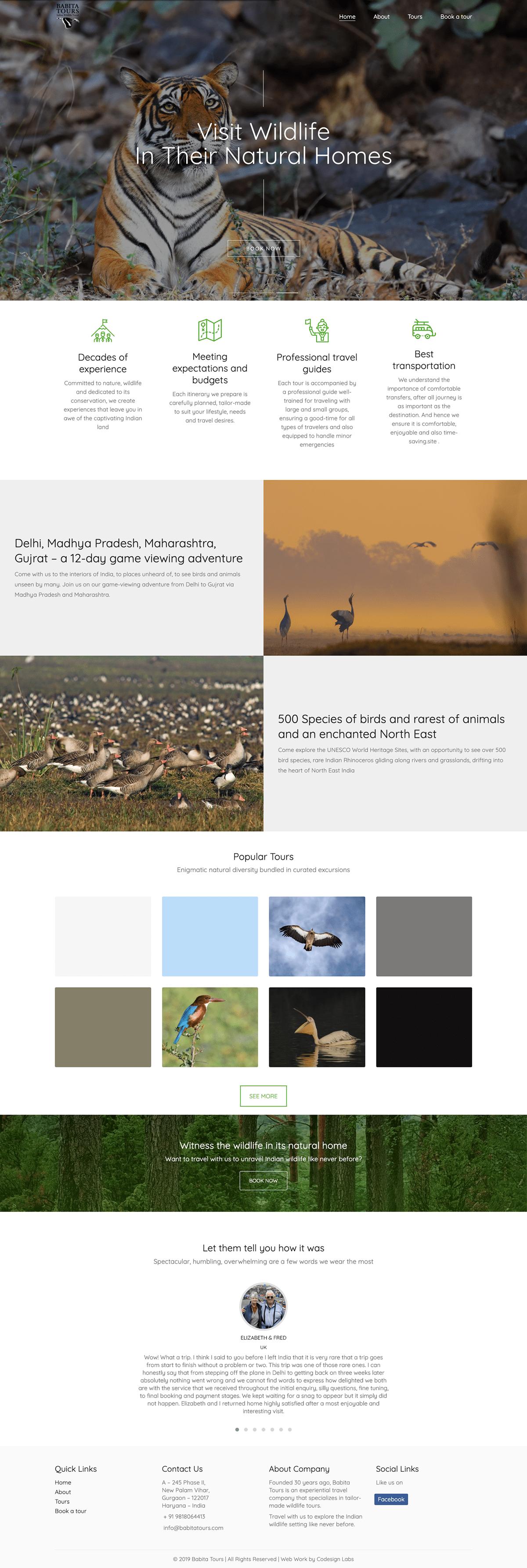 Website Design,UI/UX,ui design,website development,Tours and travel,Wildlife Website