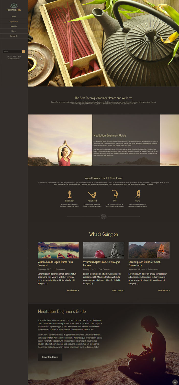 wordpress meditation Web Design  web development  Theme envato theme forest Guru