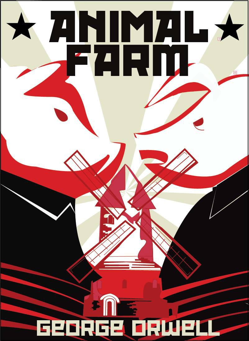 Animal Farm Penguin Book Cover ~ Animal farm book cover on behance