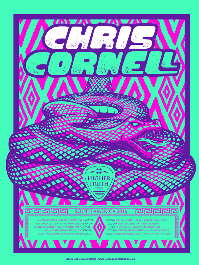 Chris Cornell South American Tour Poster On Behance