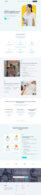 clean company Consulting corporate minimal modern UI/UX Web Design  Website wordpress