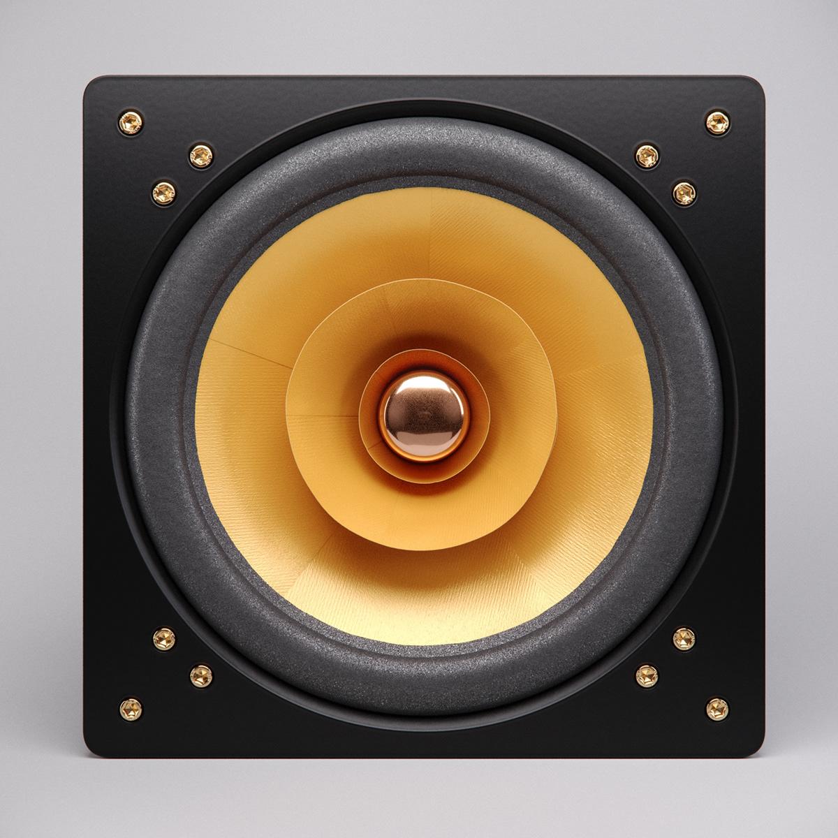 3D fullrange product product3d rendering speakers visualisation