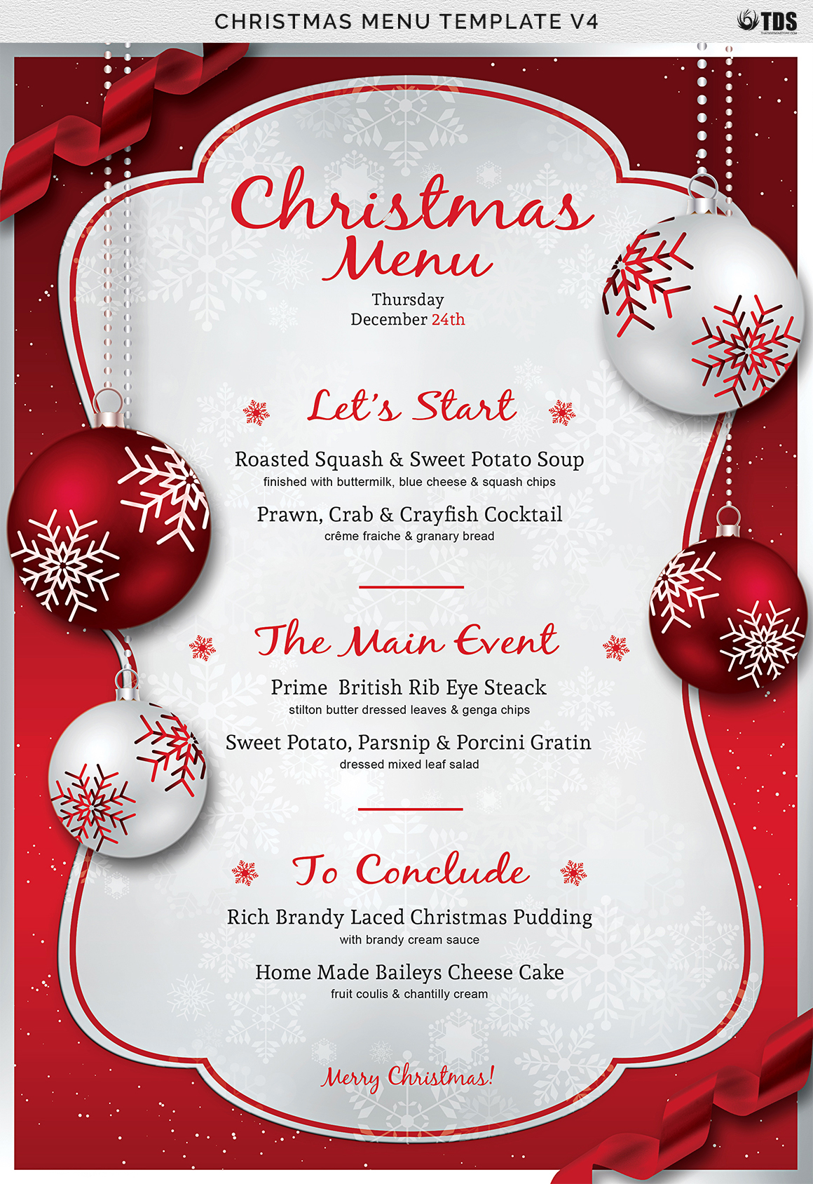 christmas menu template v4 on behance