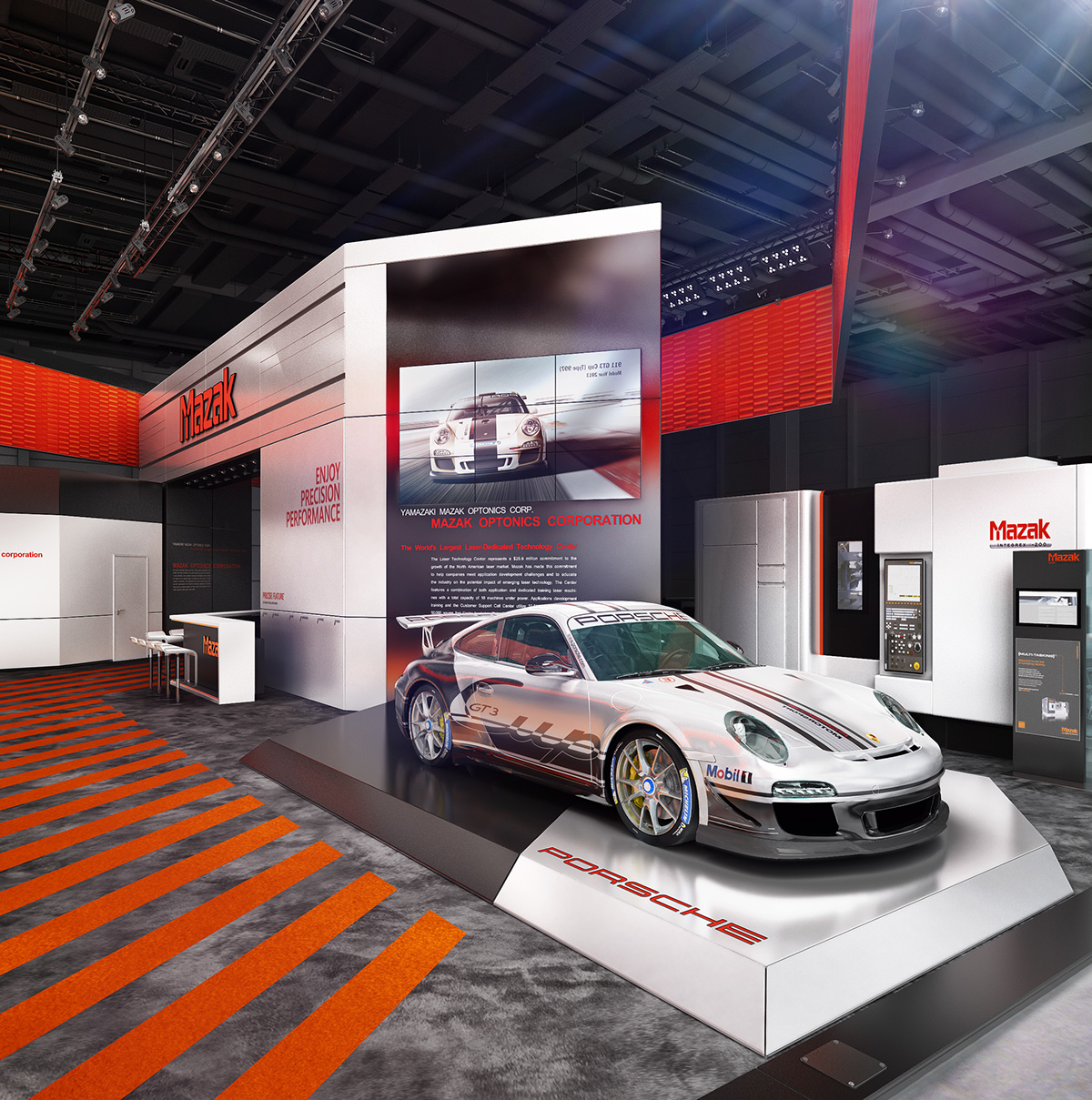 Exhibition Stand Car : Mazak blechexpo on behance