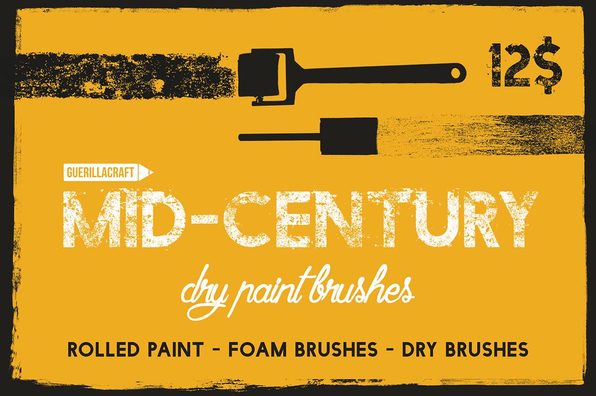 vector adobe illustrator brushes vintage MID-CENTURY Retro 50s chalk rolled ink texture freebie Editorial Illustration ArtDirection barber beard