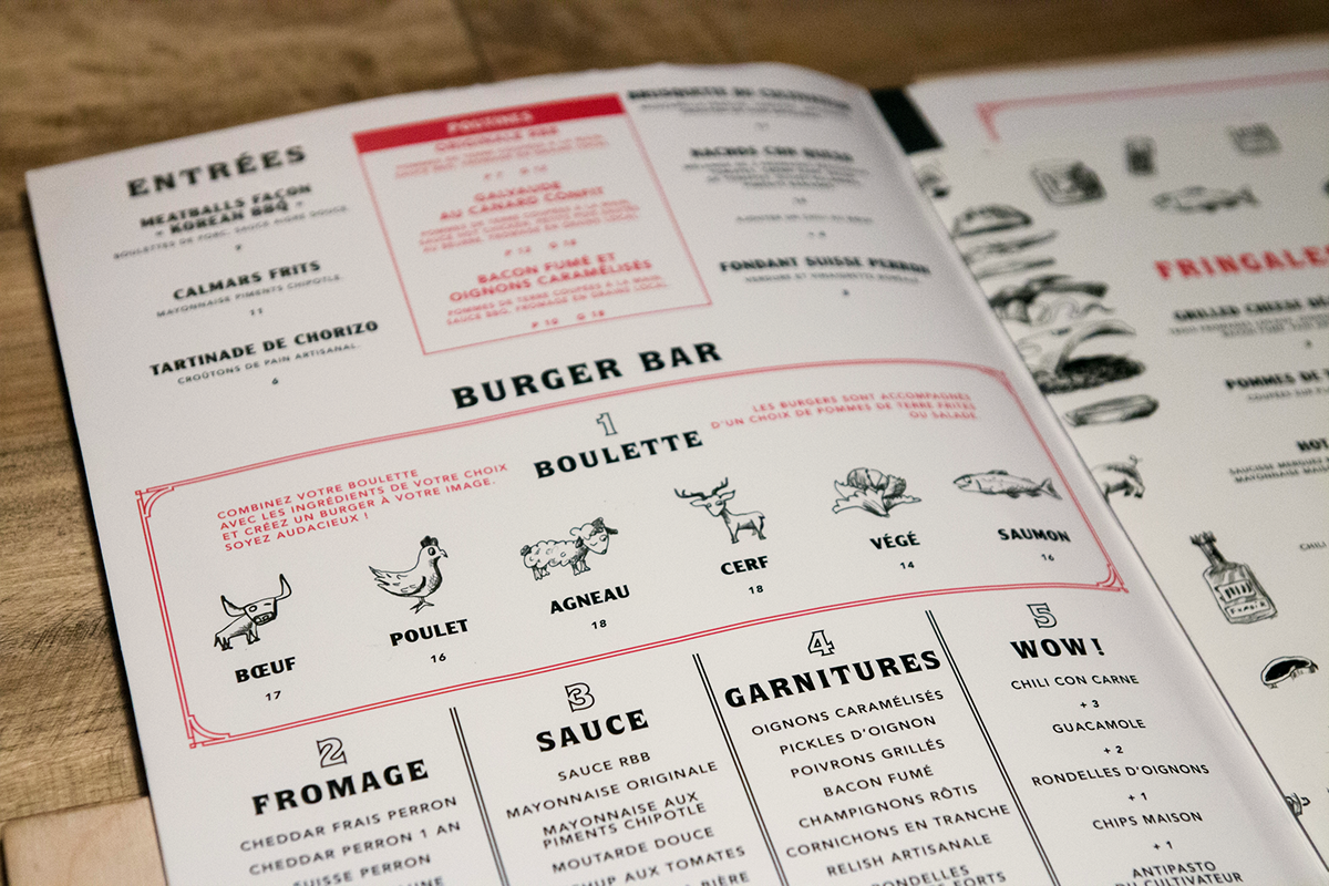 Packsac,studio,rouge,rougeburgerbar,burger,bar,menu,Resto,chicoutimi,saguenay