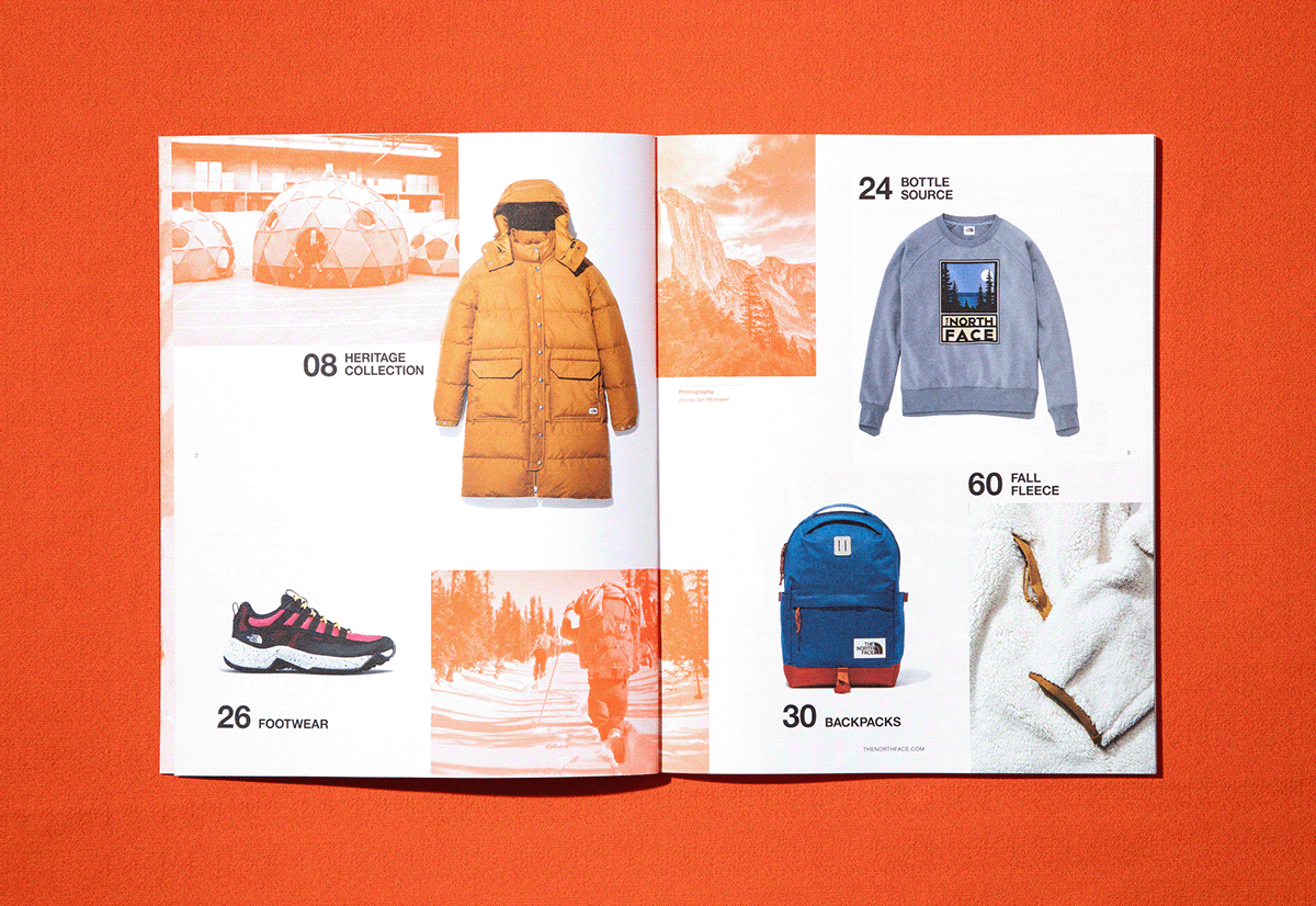 art direction  print Photography  book editorial catalog Lookbook Fashion  northface design